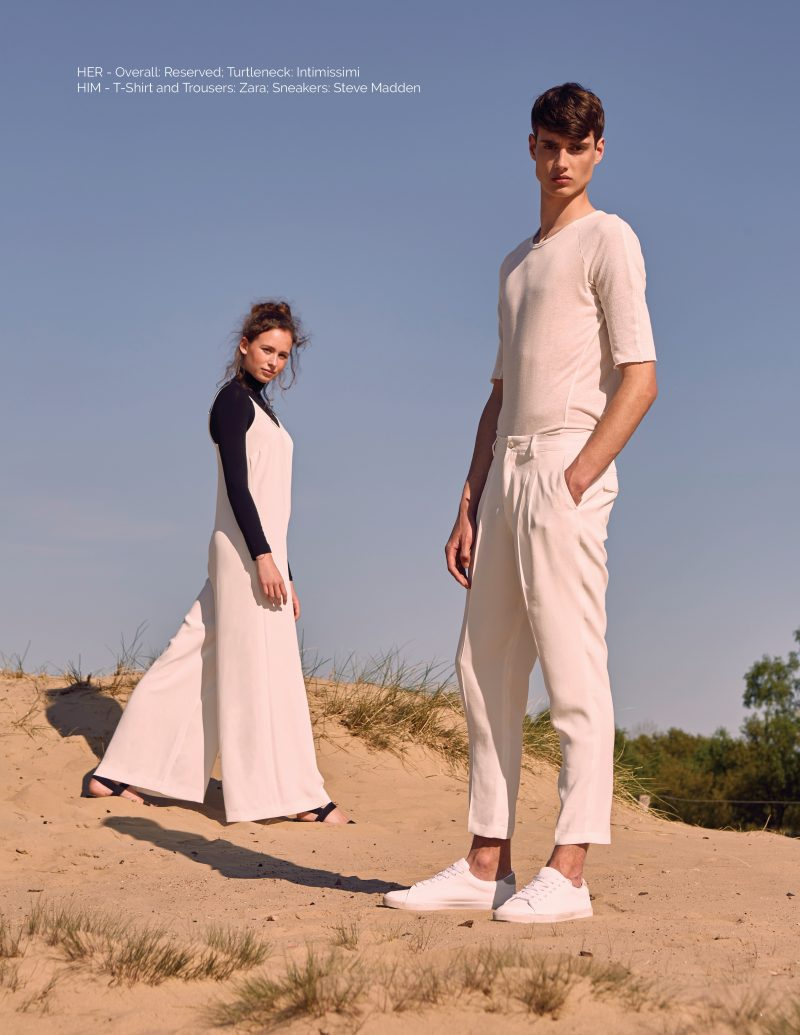 beach couple editorial