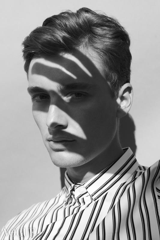 black and white portrait published at photovogue